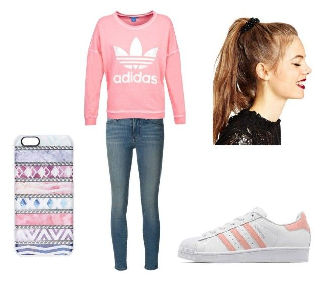 Sin título #132 by fashiongirl-cdxx on Polyvore featuring moda, adidas, Frame Denim, adidas Originals, ASOS and Casetify