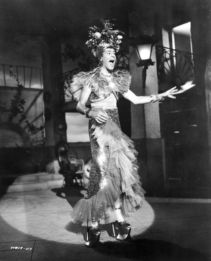"""Scared Stiff"" movie still, 1953.  Jerry Lewis as Myron Mertz (as Carmen Miranda)."