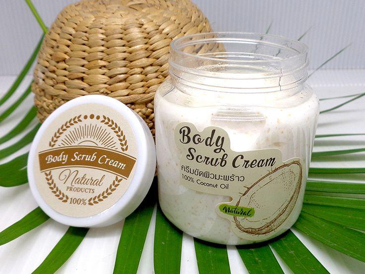 ครีมขัดผิวสูตรน้ำมันมะพร้าว% Ver gin Coconut oil Body Scrub Cream
