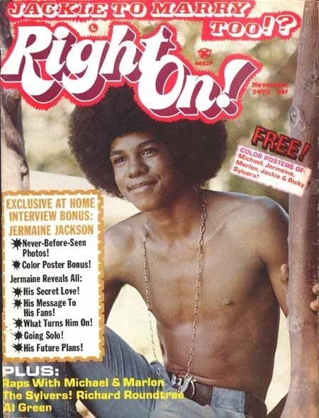 Right On Magazine Covers Jermaine Jackson of The Jackson Five 1972 - I WANT THIS!
