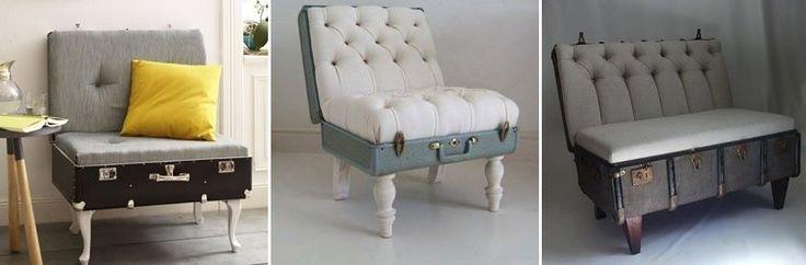 DIY Transformer une valise ancienne en fauteuil vintage tutoriel