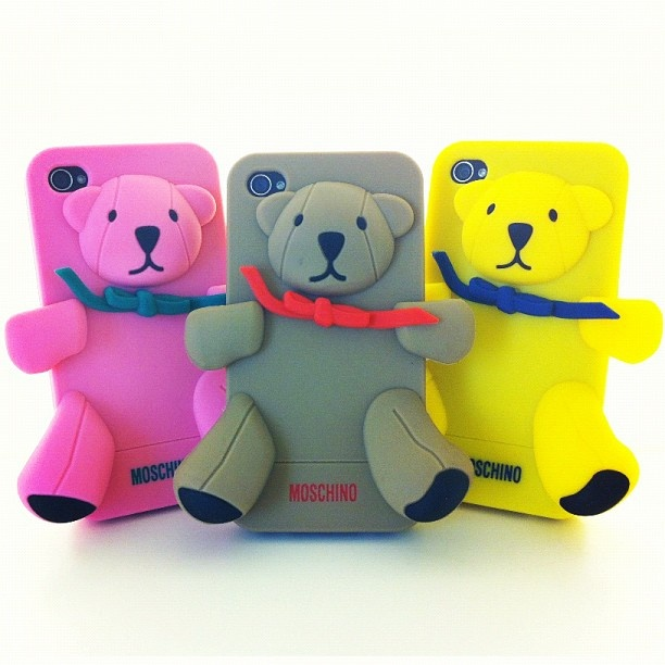Three is the magic number!  The Gennarino brothers by Moschino!    #gennarino #iphone #case #cover #bear #iwant