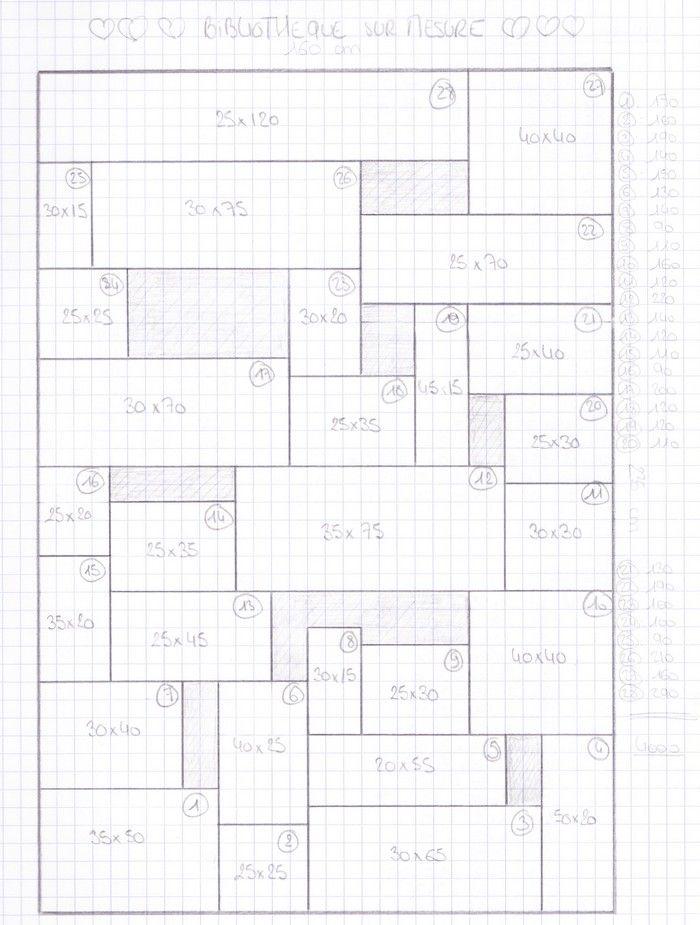 Les 25 meilleures id es de la cat gorie plans biblioth que for Plan bibliotheque murale