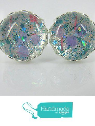 Pearly Silver Lilac Aqua and Pink Glitter Glass Stud Earrings 12mm from Summerfield Collection https://www.amazon.com/dp/B01JPBN8TE/ref=hnd_sw_r_pi_dp_rs9iybNBZGYCC #handmadeatamazon