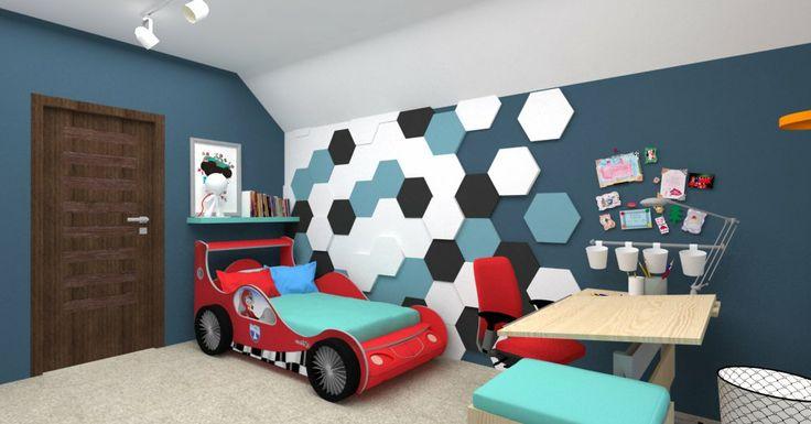 Kolekcja Fluffo HEXA. Miękkie panele ścienne 3D Fluffo. Fluffo, Fabryka Miękkich Ścian. Projekt by: www.msww.pl