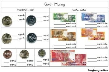 South African - Geld Werkkart Money Worksheet WS1L2 (Afrikaans)