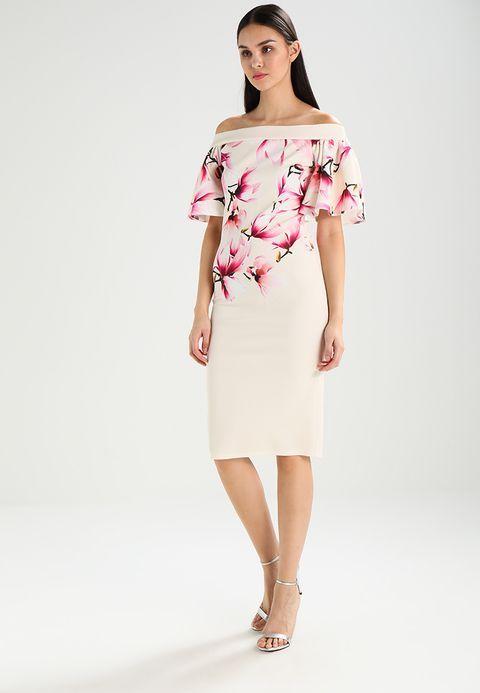 50359a9edc True Violet ABBASANTA MIDI DRESS FRILL SLEEVE DRESS - Sukienka koktajlowa -  nude pink za