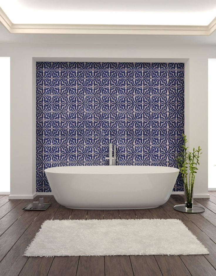 Salle de bain, Zellige ciselé Motif IMLIL Bathroom, Chiseled tiles, Pattern IMLIL