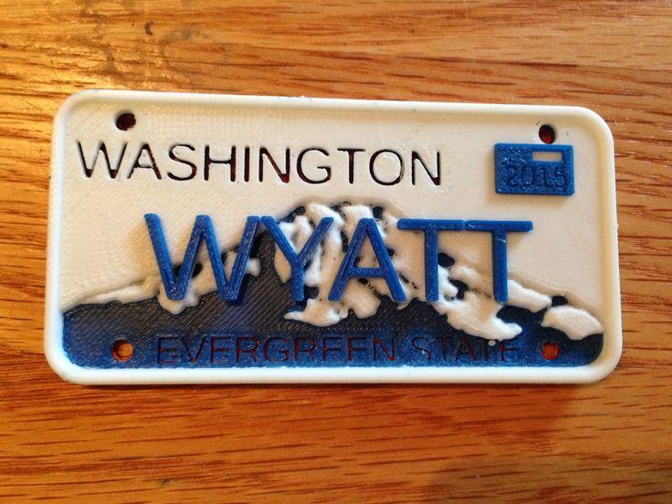 Toy License Plate Generator - Washington State by kapudon.