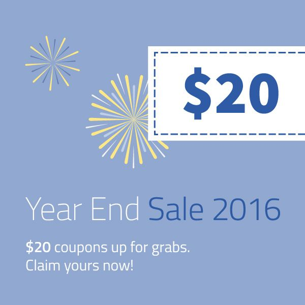We hate to say this, but our Year End Sale will end today! You have still few more hours left to grab our promo.