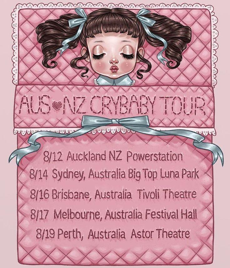 AUS  NZ CRYBABY TOUR the LINK IN BIO Art by @chloetersigni