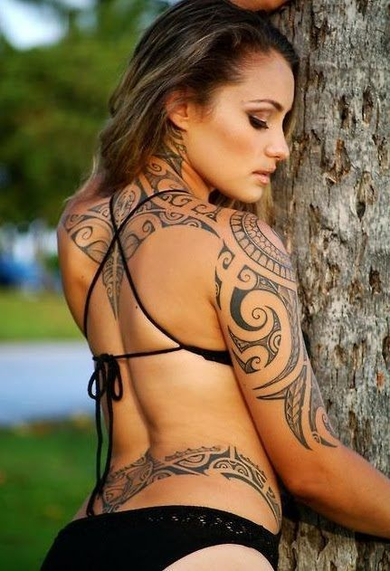 Tribal tattoos for women…. I mainly see these on men, but now I know I really …