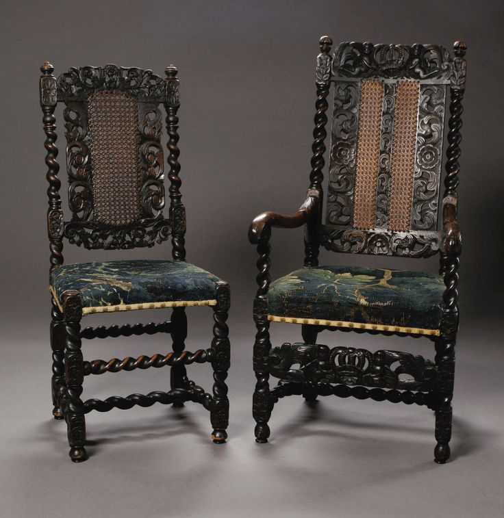 Two William U0026 Mary Chairs English, Late Seventeenth CenturyA William U0026 Mary  Carved Walnut And