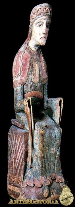 Virgen de Mosjo Autor: Autor Anónimo Fecha: Siglo XII Museo: Museo Nacional de Estocolmo Características: Estilo: Material: Madera policromada