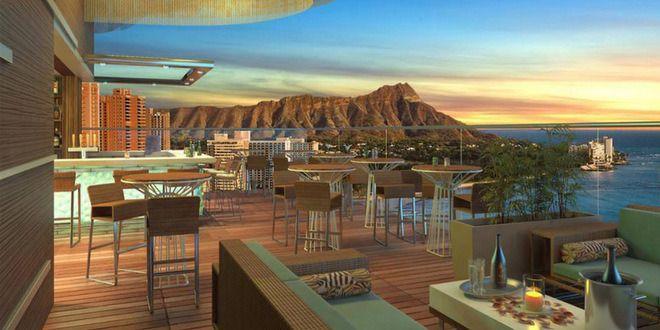 """今話題沸騰の最新ルーフトップラウンジ 『スカイ・ワイキキ』の豪華なグランドオープニング """" SKY Waikiki Grand Opening Information"""" #Hawaii #ハワイ http://www.poohkohawaii.com/gourmet/bar_lounge/skywaikiki_pre.html"""