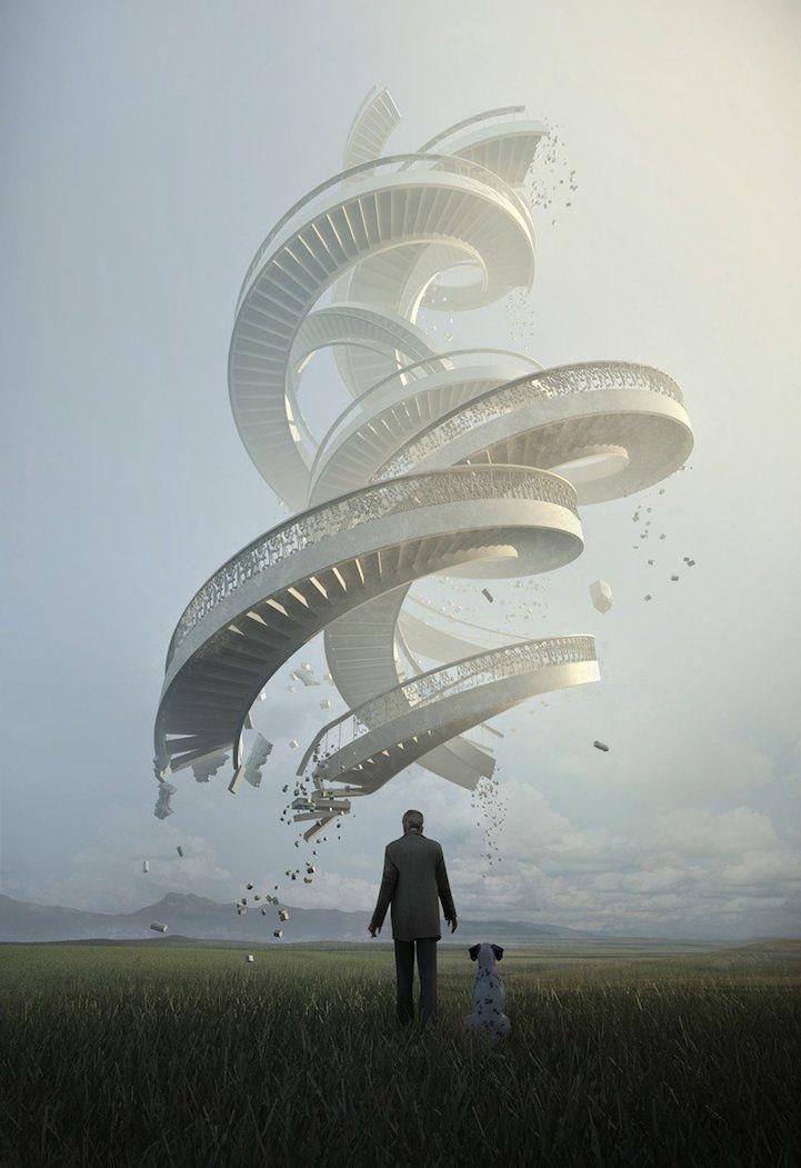 Surreal digital artworks by Jie Ma