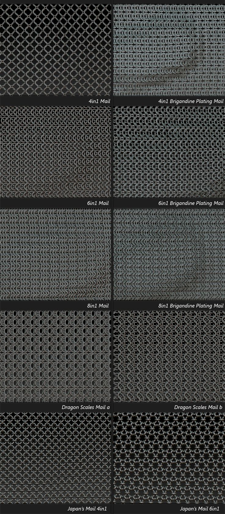 Chain-Mail For MicroMesh, zbrush