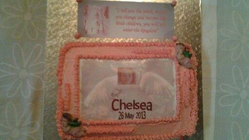 Vanilla christening cake