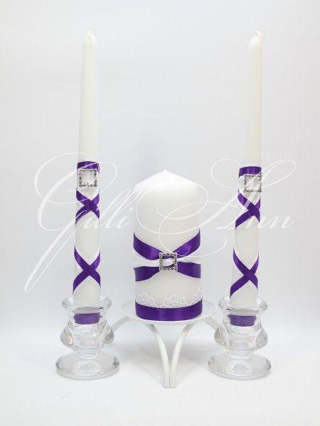Свадебные свечи Семейный очаг Gilliann Violet Magic CAN082, http://www.wedstyle.su/katalog/ceremony/svadebnye-svechi, wedding candle, wedding accessories