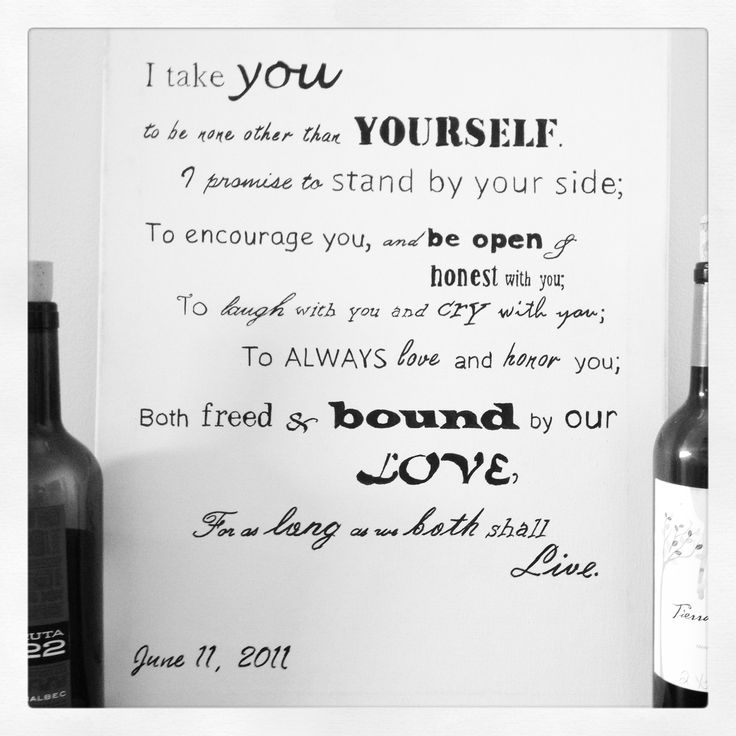 Wedding Vows: 17 Best Images About Wedding Vows On Pinterest