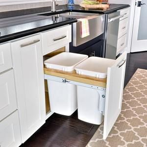 30 unique undersink trash can ideas pictures remodel and decor - Kitchen Trash Can Ideas