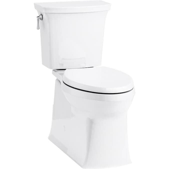 Kohler Corbelle White Watersense Elongated Comfort Height 2 Piece Vitreous China Toilet 12 In Rough In Size Ada Compliant In 2020 Kohler Water Sense China Toilet