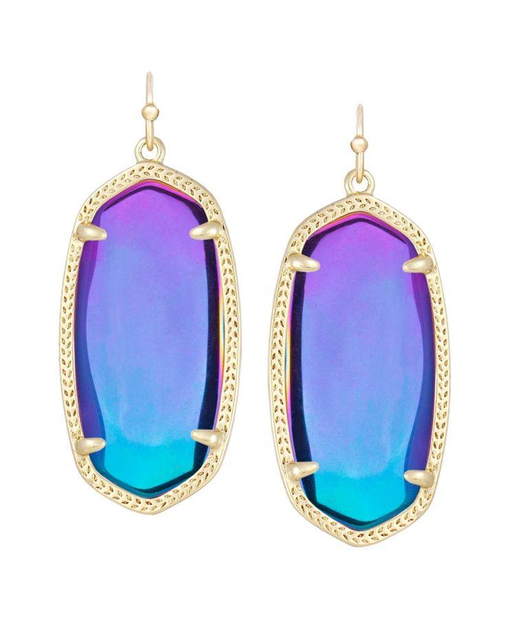 Elle Earrings in Black Iridescent - Kendra Scott Jewelry.