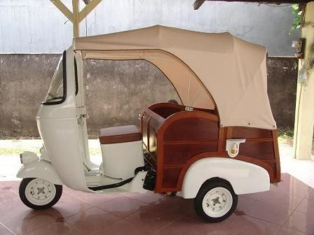 Vespa Ape Calessino from the 1950's. http://www.annabelchaffer.com/categories/Gentlemen/