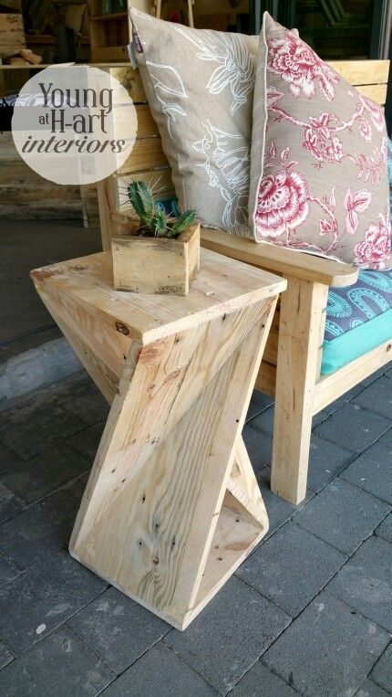 Twist Side Table from reclaimed wood. Love love!! Young at H-art Interiors xxx