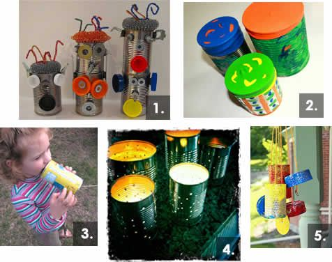 5 Tin Can Crafts for Preschoolers