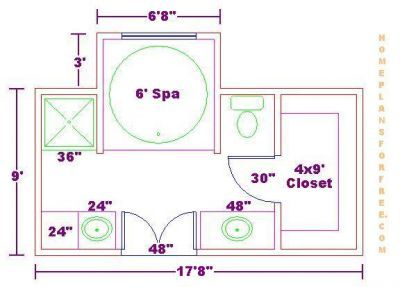 Bathroom designs and floor plans bath floor plan with for Master bathroom layout dimensions