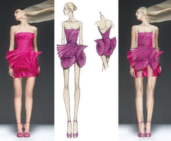 Fashion Design Ideas creative fashion design sketches using real flower petals Pretty Fashion Design Pic