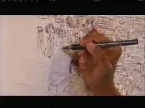 A young autistic artist is taken up in a helicopter over Rome, and then, over the next 3 days, draws it ALL by memory.
