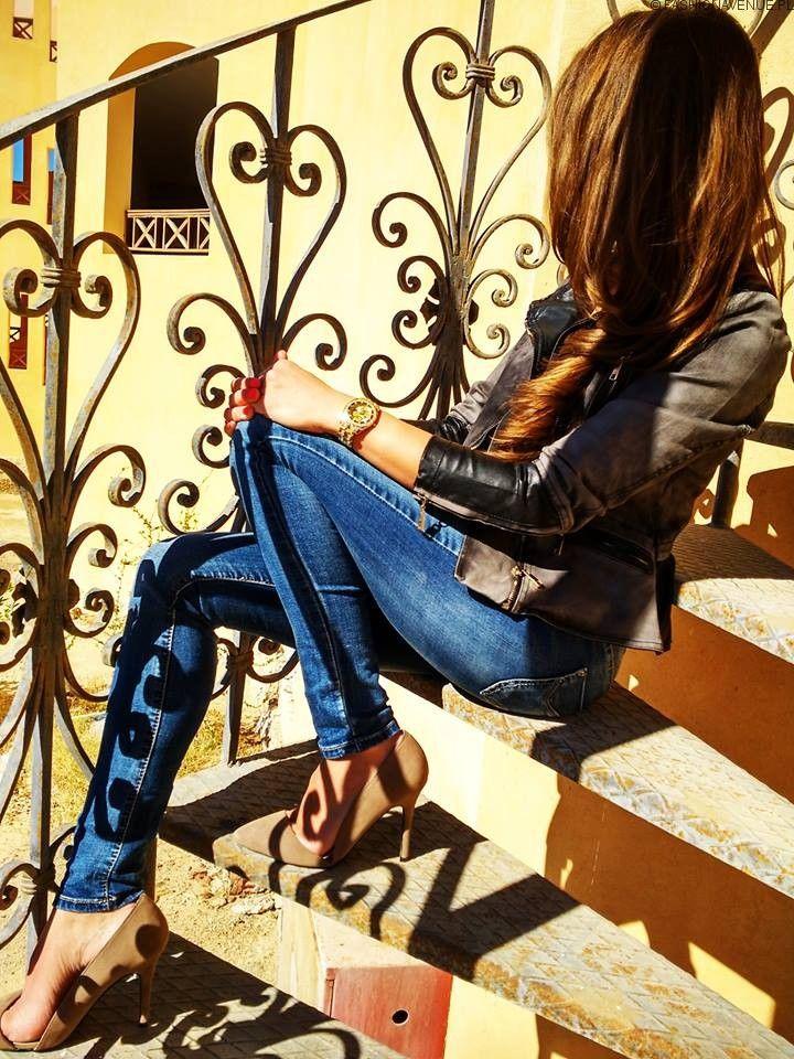 Kurtka Damska Jeans + Skóra Ramoneska Wiosna Lato 2016 model #113 w sklepie www.fashionavenue.pl