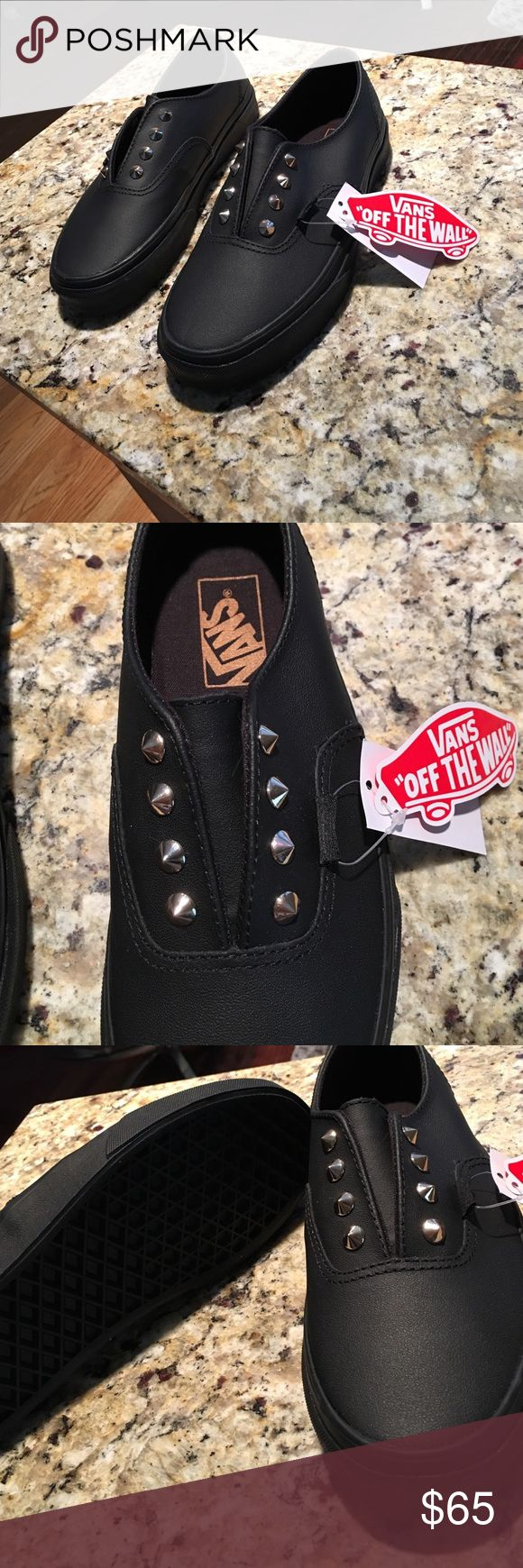 **NEW** Vans women's size 6.5 black ***NEW W/ TAGS NEVER WORN*** Black with gold studs vans woman's size 6.5 Vans Shoes Sneakers