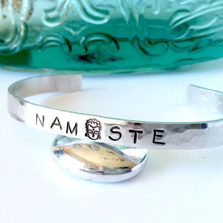 New!!!~ Hand stamped Namaste thin bracelet cuff! Simple, Stylish and Stackable!