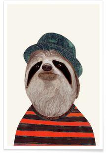 Funky Sloth - Animal Crew - Premium poster