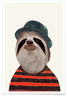 Funky Sloth - Animal Crew - Premium poster