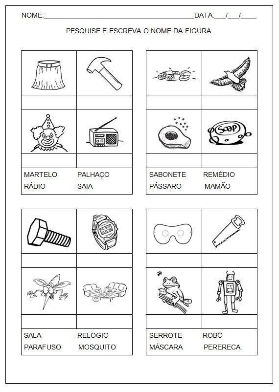 Atividades Imprimir Hipotese De Escrita Pre Silabica Ola Amigos