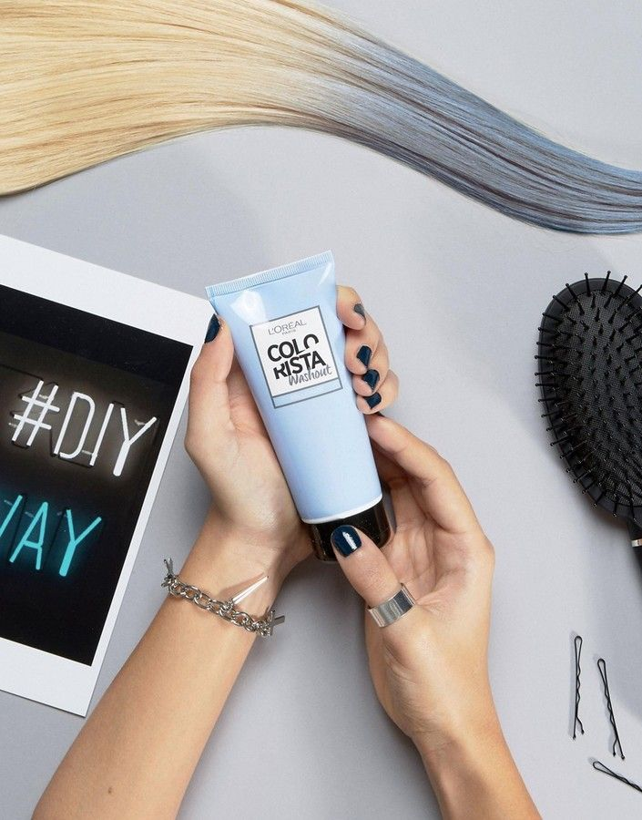 LOral Paris Colorista Wash Out Hair Color - Blue | Get the blue-gray hair trend at home!