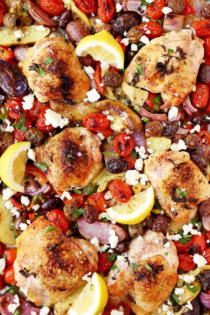 Easy Weeknight Meal: Mediterranean Sheet Pan Chicken Thighs — Delicious Links