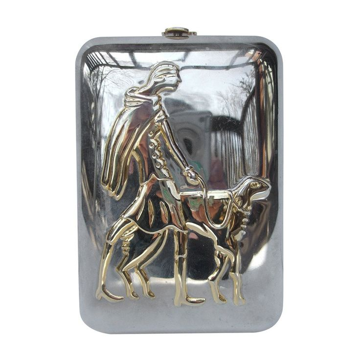 275 Unique Figural Metal Woman Evening Bag c 1980 | From a collection of rare vintage novelty bags at https://www.1stdibs.com/fashion/handbags-purses-bags/novelty-bags/