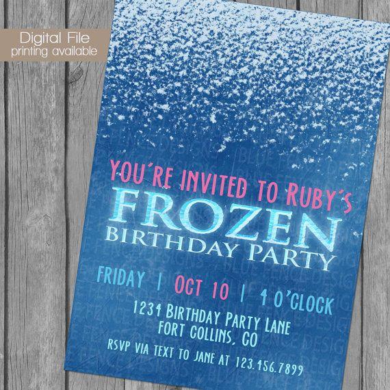 Frozen Birthday Party Invitation on Etsy, $11.00