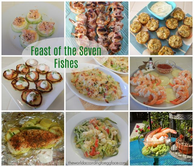 Eggface Bariatric Surgery Friendly Recipes: Feast of the Seven Fishes Seafood Recipes