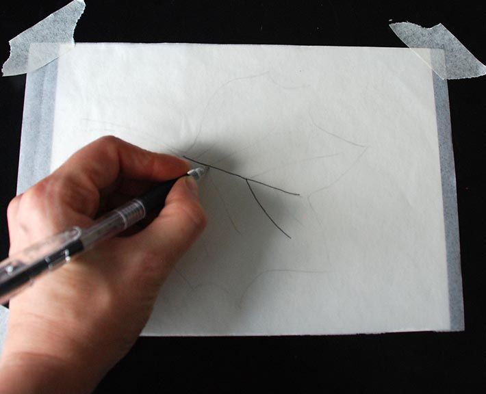 How to indent drawing paper