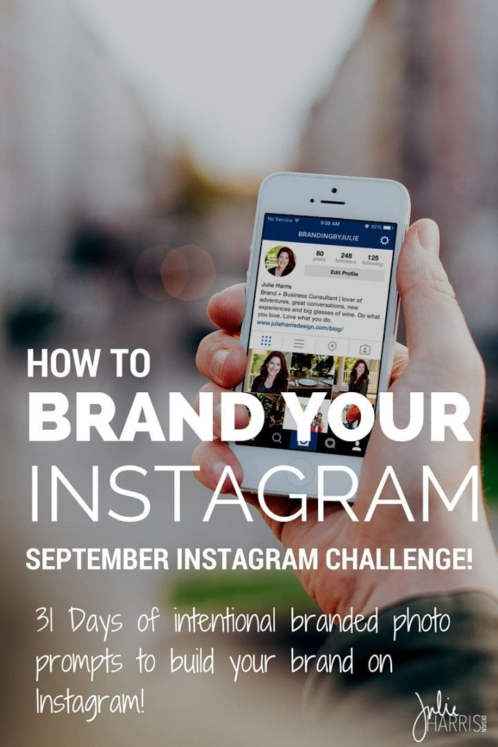 How to brand your Instagram content to help support and expand your brand. PLUS a 31 day FREE Instagram Brand Photo Challenge with Julie Harris Design