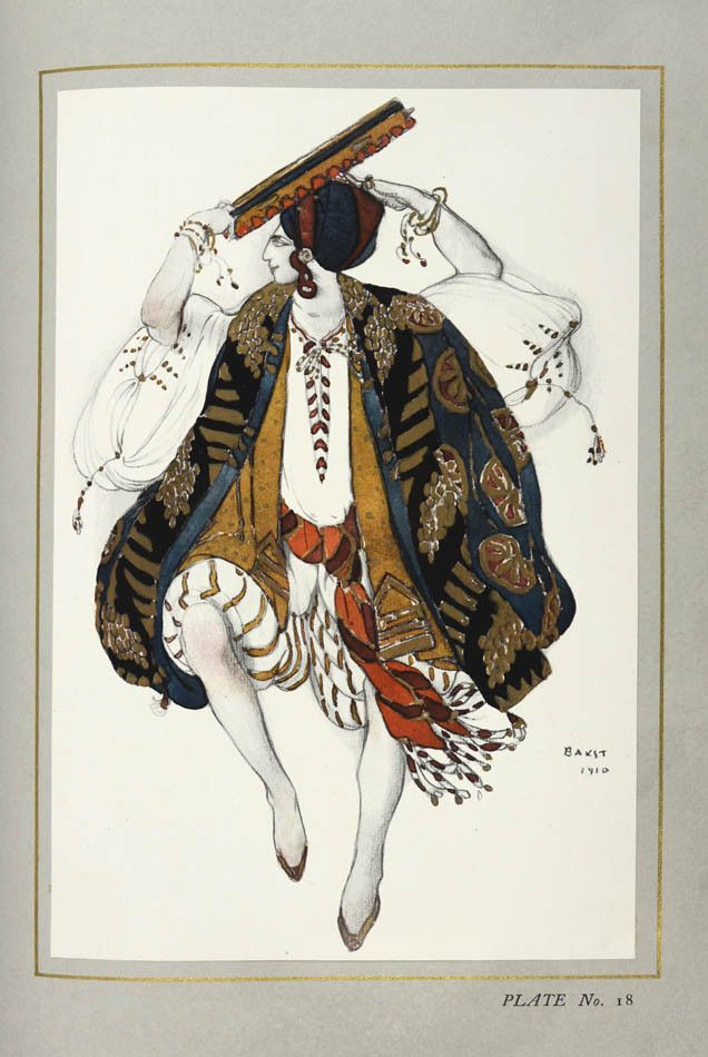 Arsene Alexandre And Jean Cocteau, The Decorative Art Of Leon Bakst, 1913