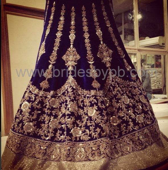 Bridal lehenga customised through our service www.bridesbypb.com !