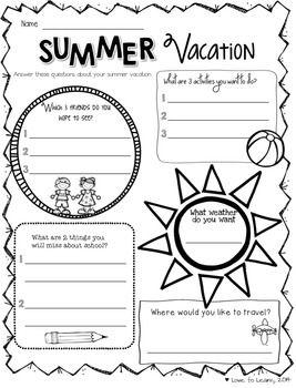 Summer Holiday Worksheets For Kindergarten on Story Retell Worksheet Kindergarten