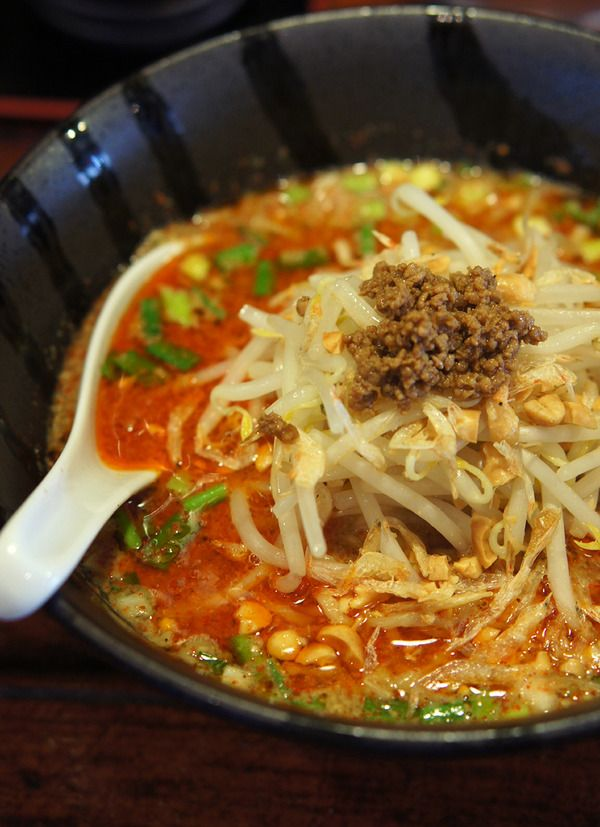 Photo: Chinese Spicy Dan Dan Noodles Served in Fukuoka, South Japan|担担麺